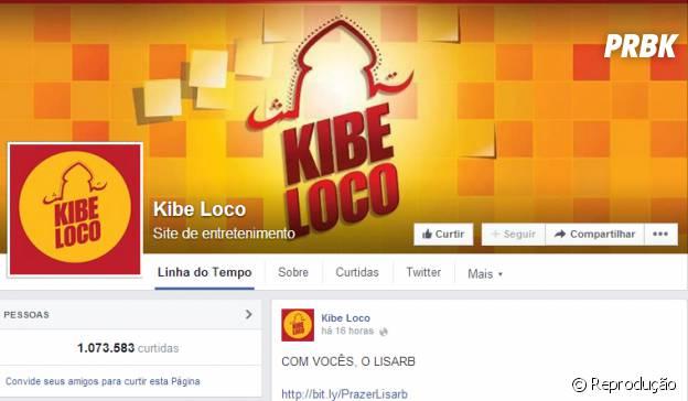 Página do Kibeloco no Facebook