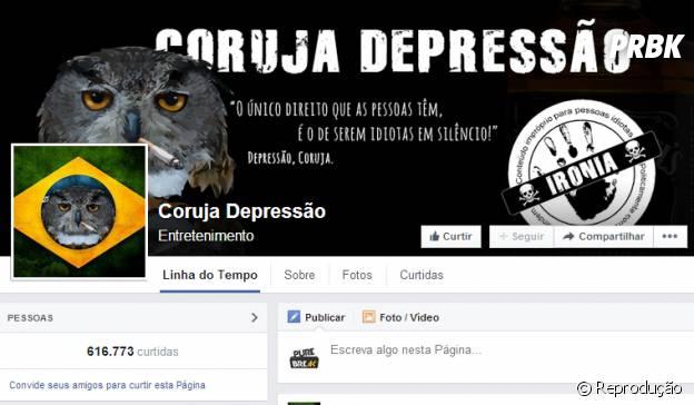 Página Coruja Depressão no Facebook