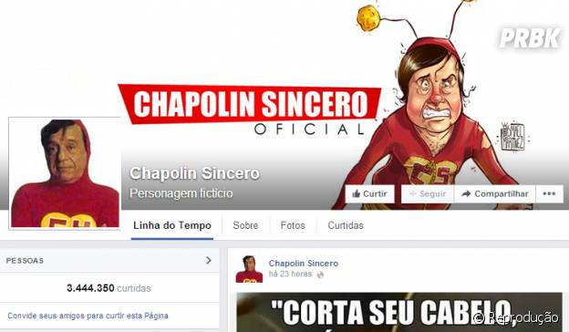 Página Chapolin Sincero no Facebook