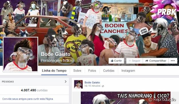 Bode Gaiato é uma das páginas de humor com mais fãs no Facebook
