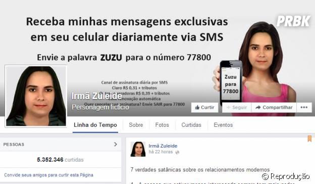 Página da Irmã Zuleide no Facebook