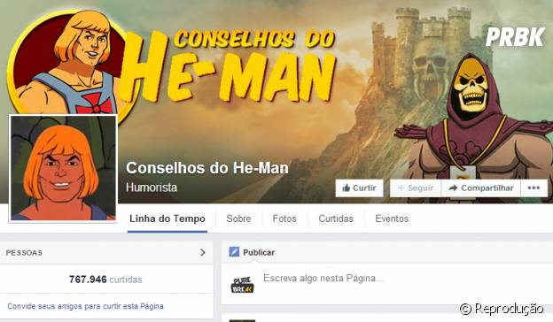 He-man dando conselhos no Facebook!