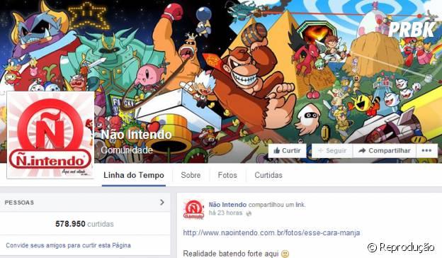 Página Não Intendo no Facebook