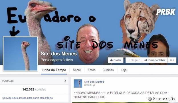 Página Site dos Menes no Facebook