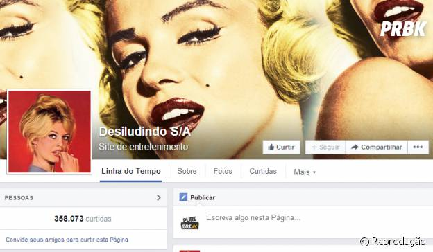 Página Desiludindo S/A no Facebook