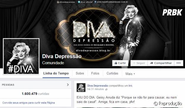 Página Diva Depressão no Facebook