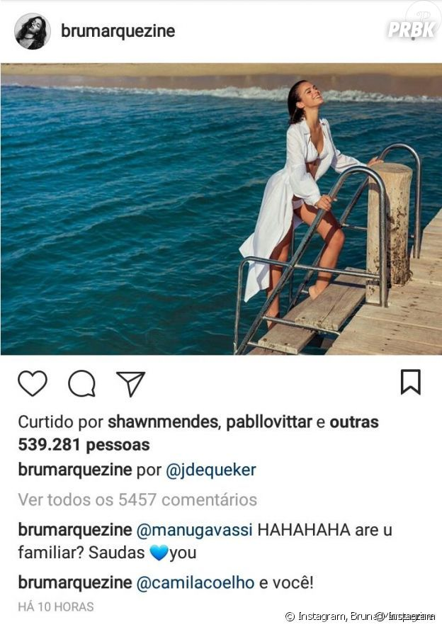 Shawn Mendes curte foto de Bruna Marquezine no Instagram