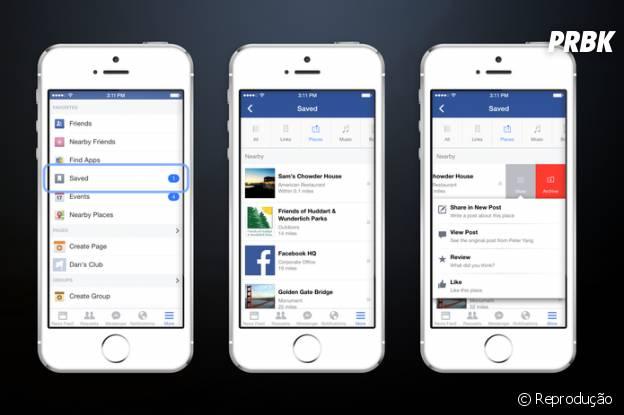 É possível acessar a qualquer momento as postagens salvas no Facebook