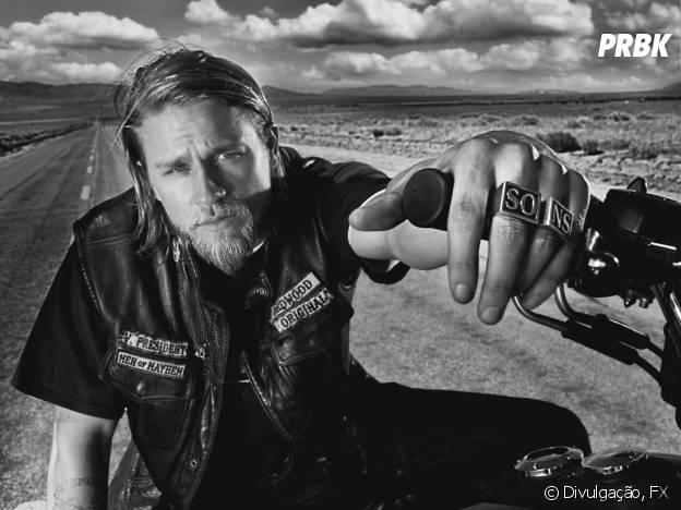 """Charlie Hunnam é Jax Teller, o protagonista de """"Sons of Anarchy"""""""
