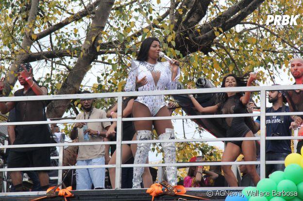 Ludmilla na Parada LGBT de Madureira, neste domingo (26)