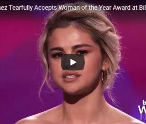 """Selena Gomez faz discurso emocionante ao receber prêmio """"Women in Music"""""""