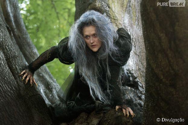 """Meryl Streep vive uma bruxa em """"Into the Woods"""""""