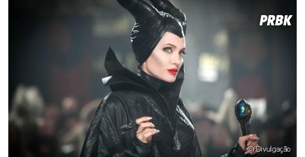 """Angelina Jolie é a protagonista de """"Malévola"""""""