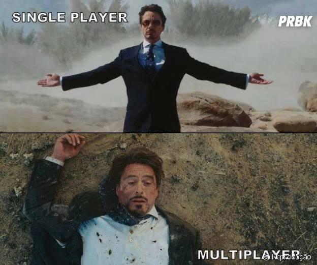 Os jogos single-player são mais casuais ao contrário de multi-player que exige muita dedicação
