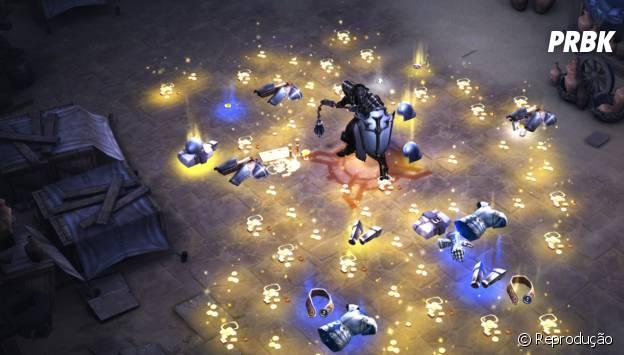 Single-player fica com todo o ouro e loot pra si, bem melhor