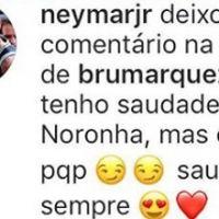 """Neymar Jr. deixa comentário fofo em vídeo de Bruna Marquezine: """"Saudade pra sempre"""""""