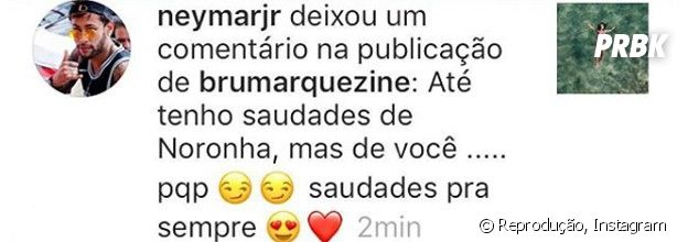 Neymar Jr. deixa comentário fofo em vídeo de Bruna Marquezine