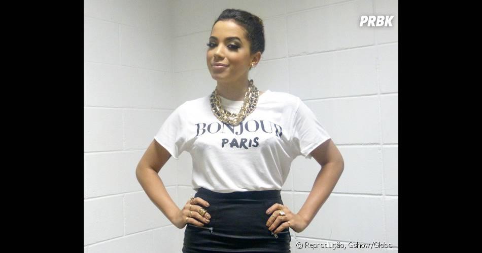 """A cantora Anitta vai falar sobre o tema feminismo no programa """"Na Moral"""", da Globo"""