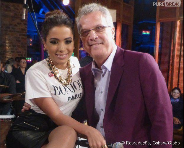 """Anitta é convidada de Pedro Bial no programa """"Na Moral"""", da Globo"""