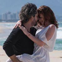 """Na praia, Marina Ruy Barbosa e Alexandre Nero gravam cenas sensuais de """"Império"""""""