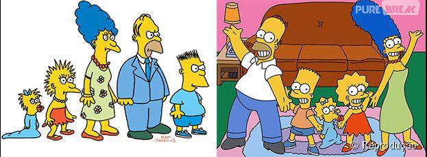 Veja a mudança dos Simpsons de 1987 até agora!