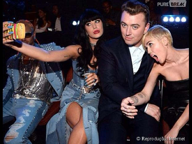 Katy Perry, Sam Smith e Miley Cyrus arrasam no selfie!