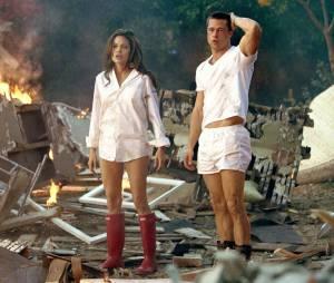 """Brad Pitt e Angelina Jolie em ação no filme """"Sr. e Sra Smith"""""""