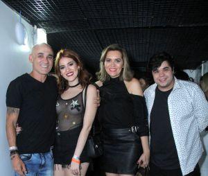 """Ana Clara, do """"BBB18"""", foi acompanhada da família Lima ao show de Luan Santana no Rio de Janeiro, neste sábado (28)"""