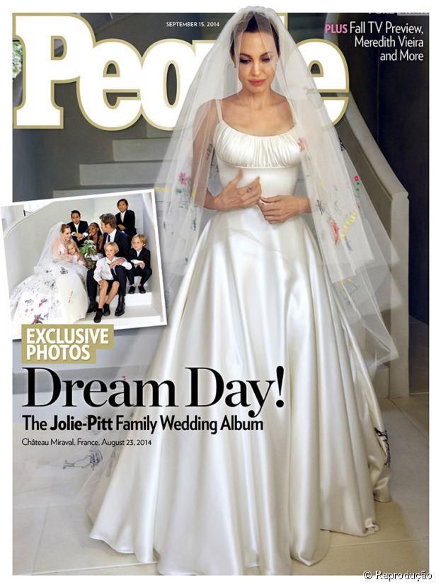 Angelina Jolie casou com Brad Pitt em cerimônia secreta