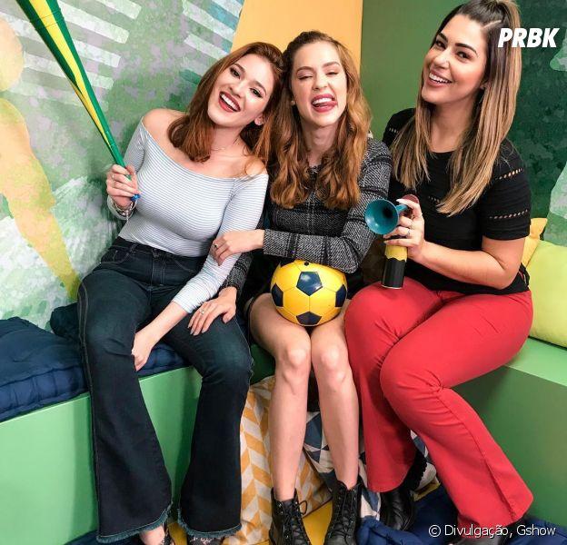 """As ex-BBBs Ana Clara e Vivian Amorim estreiam no """"Vídeo Show"""", nesta segunda. Programa continua sendo tocado por Sophia Abrahão."""