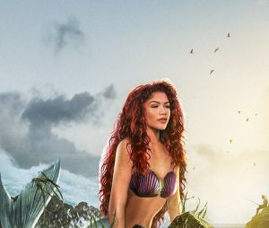 """Pôster mostra Zendaya como Ariel em """"A Pequena Sereia"""""""