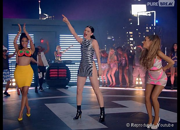 """Nicki Minaj, Ariana Grande e Jessie J juntas no clipe de """"Bang Bang"""""""