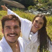 """Juliana Paiva e Nicolas Prattes estão felizes da vida com o trabalho em """"O Tempo Não Para"""""""