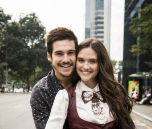 """Juliana Paiva e Nicolas Prattes, de """"O Tempo Não Para"""", já falaram o quanto estavam felizes trabalhando juntos"""