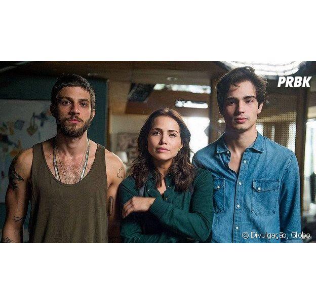 """Em """"Segundo Sol"""", Rosa (Leticia Colin) conta a verdade sobre Ícaro (Chay Suede) para Valentim (Danilo Mesquita)"""