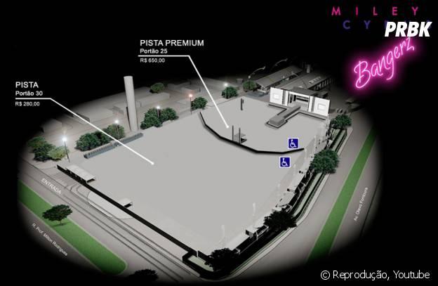 Na capital paulista, o show de Miley Cyrus acontece na Arena Anhembi