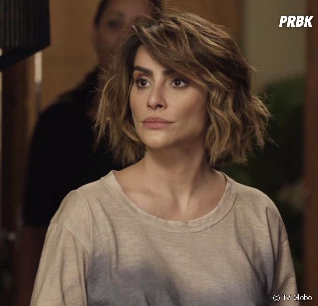 """Em """"O Tempo Não Para"""": Betina (Cleo) finge estar louca para tentar reconquistar Samuca (Nicolas Prattes)"""