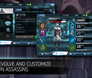 """É possível customizar seu personagem em """"Assassin's Creed Identity"""",o primeiro RPG da franquia para celulares e tablets"""