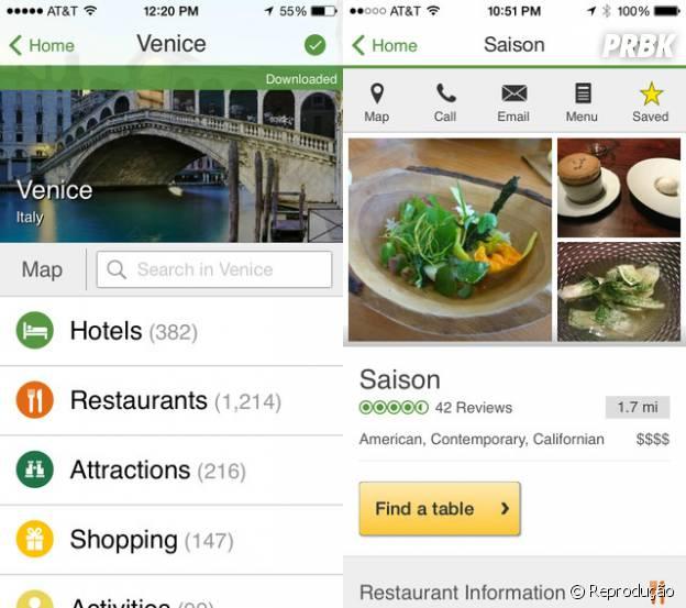 """""""TripAdvisor"""" te ajuda a encontrar restaurantes perto de você"""