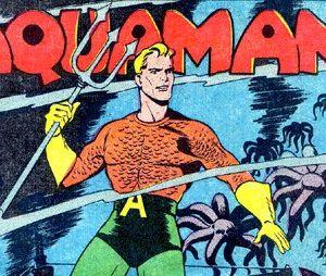 Aquaman nem sempre foi apresentado como filho de um ser aquático com uma humana