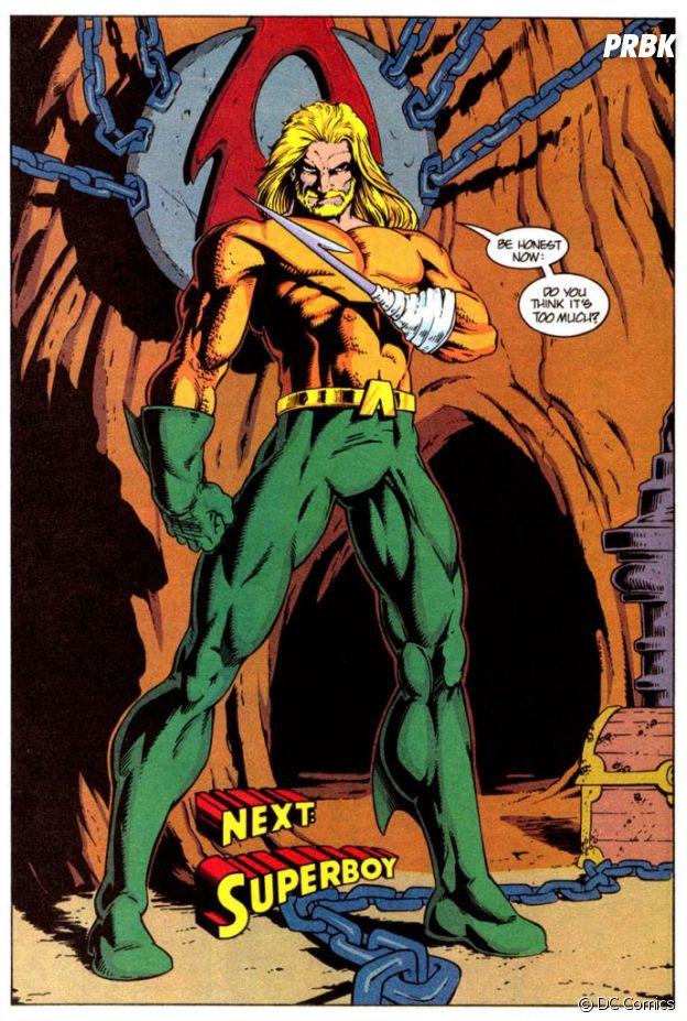 Aquaman já perdeu a mão nos quadrinhos. Será que isso vai rolar no filme?