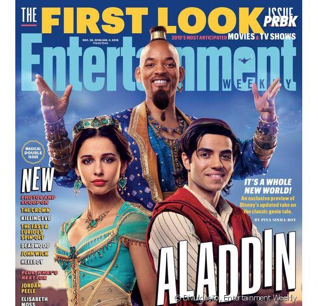 "EW libera as primeiras imagens do live-action de ""Aladdin"""