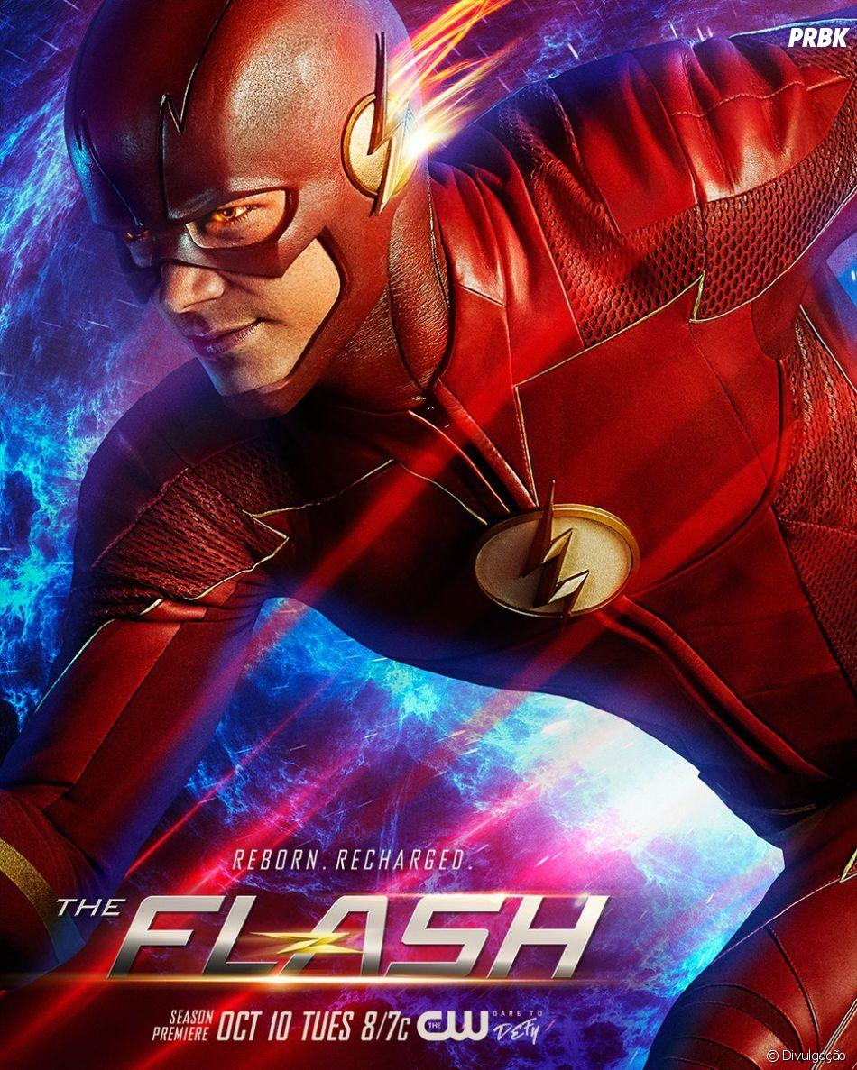 """Em """"The Flash"""": Nora (Jessica Parker Kennedy) e Barry Allen (Grant Gustin) terão que enfrentar novos vilões na 5ª temporada"""