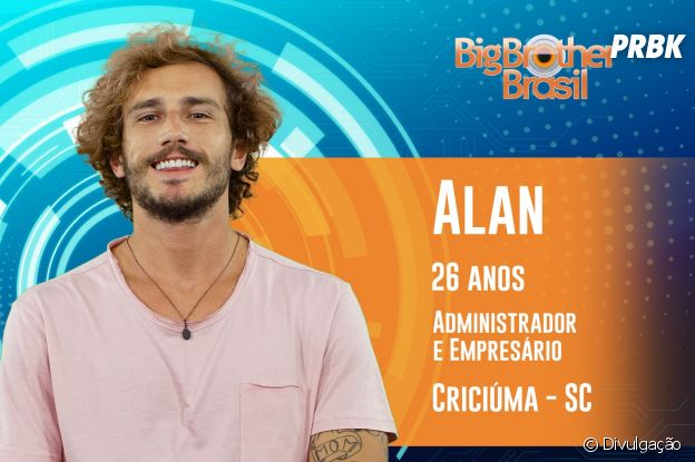 """Do """"BBB19"""": conheça Alan, de Santa Catarina"""