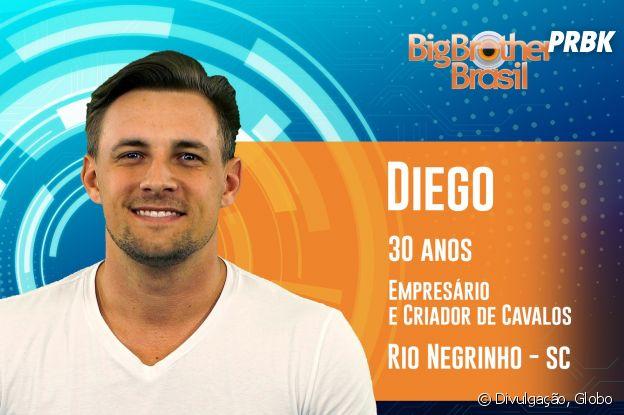 """Do """"BBB19"""", conheça Diego, de 30 anos"""