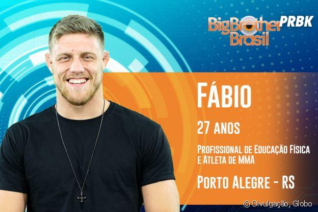 """Do """"BBB19"""", conheça Fábio, com 27 anos"""