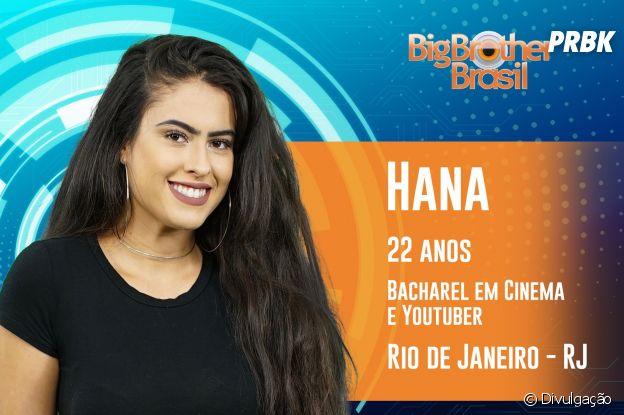"""Do """"BBB19"""": conheça Hana, a carioca de 22 anos"""