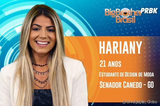 """Do """"BBB19"""", conheça Hariany, a goiana de 21 anos"""