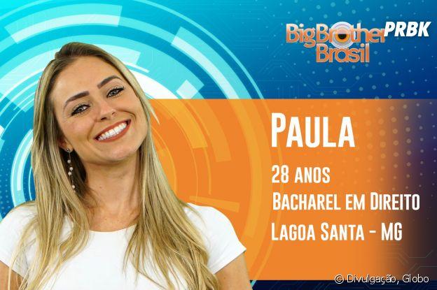 """Do """"BBB19"""", conheça Paula, a mineira de 28 anos"""