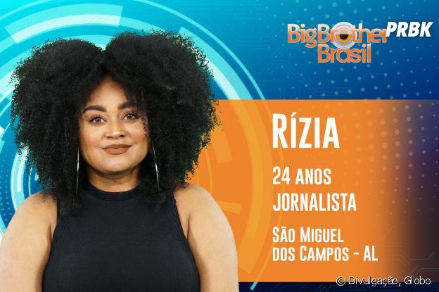 """Do """"BBB19"""", conheça Rízia, a jornalista de 24 anos"""